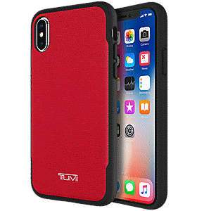 6dd0fb21fc36bb TUMI Coated Canvas Co-Mold Case for iPhone XS/X Colour Red